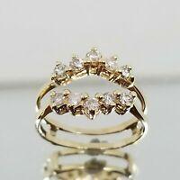 1.00Ct Diamond Enhancer Engagement Wedding Wrap Ring 14k Yellow Gold Finish
