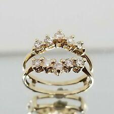 1.00Ct Diamond Enhancer Engagement Wedding Wrap Ring Solid 10k Yellow Gold