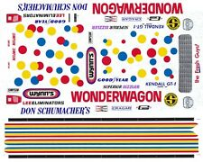Don Schumacher's Wonder Wagon 1/64th HO Scale Slot Car Waterslide Decals