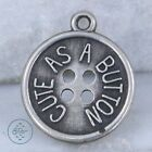 Vintage Sterling Silver - BEAU Cute As A Button Disc 1.3g - Charm Pendant HB1543