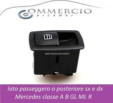 PULSANTE ALZAVETRO LATO PASSEGGERO O POST. SX E DX MERCEDES CLASSE A B GL ML R