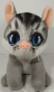 "Dan Dee Gray Cat Plush Kitten 7"" Stuffed Animal Toy - Free Shipping Pink Nose"