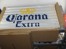 LOT 3 CORONA EXTRA BEER 👑 CORRUGATED METAL TIN BAR TACKER SIGN ADVERTISING NEW