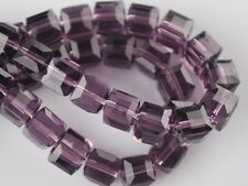 10/50pcs Wholesale 8mm Cube Square Faceted Crystal Glass Loose Spacer Beads