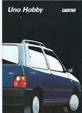 Fiat Uno Hobby Fire 1.0 1.0 ie Cat Italian Language Brochure 1992 Excellent