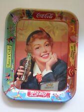 """Vintage Coca-Cola 1953-1960 Original Menu Girl Serving Tray 10 3/4"""" x 13 1/4"""""""