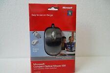 Microsoft Compact Optical Mouse 500 w/Scroll-Wheel USB U81-00009 800dpi 1344 NEW