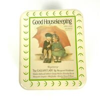 Good Housekeeping Advertising Handled Tin The Gallant Lady 1926 Floral Cheinco