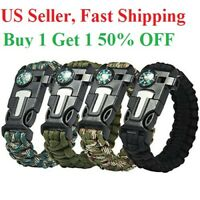 Waterproof Outdoor Adjustable Paracord Survival emergency Bracelet