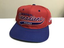 Vintage Montreal Canadiens Starter Script Snapback Hat Cap Nhl Habs Arch Twill