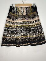 Cue Polka Dot Knee Length Skirt With Pockets Size 10 EUC