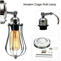 Chrome Wall Light Vintage Industrial Home light Cage Wall sconce Light Fitting