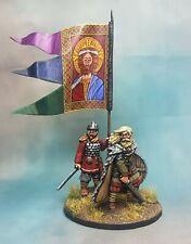 28mm Footsore miniatures Saxon king  Aella and bannerman painted (metal) SAGA