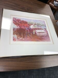 "Ed Blackburn Framed Vitreograph ""Charlotte Print"" Painting on Glass Signed 40/49"