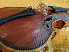 3/4 Beautiful Antique Jacobus Stainer Violin 2pcFlameback 2pcFront & Wooden case