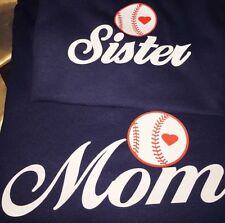 """@ Baseball Shirt """"Baseball Mom Or Baseball Sister"""" New Unisex Sizes"""