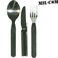 MIL-COM KFS KNIFE FORK SPOON CUTLERY SET NATO SPEC MILITARY CAMPING COOKING