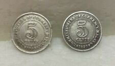 MALAYA King George VI  5 cents coin x 2 pcs 1948 & 1950  #2