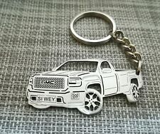 GMC Sierra, keychain by your picture, custom gift, personalised  keyring