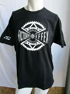 Factory Effex FX tee T shirt SPROCKET mens LARGE blk  17-87054