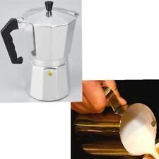Moka Pot Top Expresso Stove Percolator 3 Cups + 350ml Milk Frothering Jug
