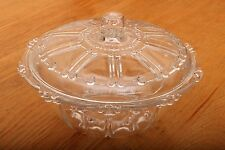 Vintage Glass Bowl With Lid Hobnail Details