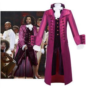 Hamilton Thomas Jefferson Victorian Frock Men Coat Opera Cosplay Costume Outfits