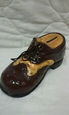 Vintage Ceramic Shoe Bank 7 Inch Cute!