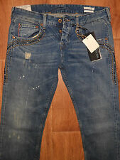 MSRP $ 498 WE ARE REPLAY AMY  DISTRESSED RED SELVEDGE Size W29 MADE IN ITALY NEW