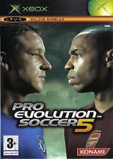 PES Pro Evolution Soccer 5 (Xbox) Xbox - Konami PAL (Ages 3+) - Box K1