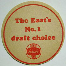 SCHAEFER BEER THE EAST'S NO.1 DRAFT CHOICE Beer Coaster, Mat, NEW YORK, MARYLAND