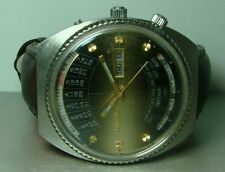VINTAGE ORIENT AUTOMATIC DAY DATE MONTH WEEK YEAR WRIST WATCH P284 USED ANTIQUE
