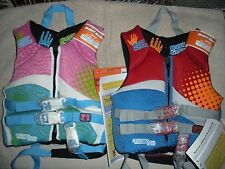 BODY GLOVE VESTS CHILD'S LIFE PFD BOATING LAKE BEACH SWIMMING NEW 2 PACK