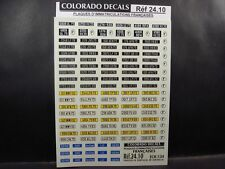 DECALS 1/24 PLAQUES IMMATRICULATIONS FRANCE - COLORADO  2410
