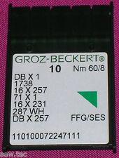 GROZ BECKERT MACCHINA DA CUCIRE INDUSTRIALE BALL POINT AGHI 16x231 DBX1 TAGLIA 8