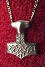 Thor's Hammer Mjöllnir Pendant Thor Norse Viking Thors Asgard Pewter Necklace