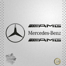 STICKER CAR MERCEDES BENZ AMG ESTRELLA STAR NEGRA VINILO ADHESIVO PEGATINA DECAL