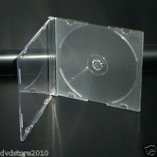 300 CUSTODIE CD SLIM SINGOLE CLEAR TRASPARENTI 5,2mm CD DVD -R CUSTODIA BOX20