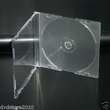 50 CUSTODIE CD SLIM SINGOLE CLEAR TRASPARENTI 5,2mm CD DVD -R CUSTODIA BOX20