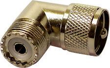 PL259 PLUG TO SO239 SOCKET UHF RIGHT ANGLE 90 DEGREE ADAPTOR