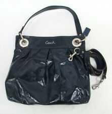 *New! Coach Ashley Hippie Cobalt Blue Patent Leather Satchel Shoulder bag