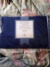 NEW Signature by Wamsutta Full  Flat Sheet Sapphire  100%  Elite Cotton