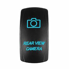 Laser Waterproof Rocker Switch Push Button BLUE LED Rear View Camera Backlit