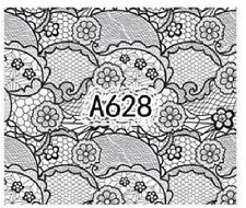 Nail Art Decals Transfers Stickers Lace Pattern (A-628)