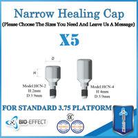 5X Dental Implant Titanium Narrow Healing Caps For Internal Hex Platform Implant