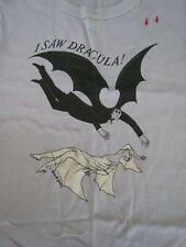 ' I Saw Dracula ' Edward Gorey, T-Shirt, Men Small , 1977 Old Stock, Nice