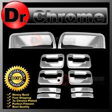 09-14 Ford F150 Chrome HALF Mirror+4 Door Handle+no keypad+no PSG keyhole Cover