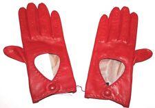 Portolano Women's Ferrari Red Driving Gloves Open Wrist Size 7 New 2BF7791