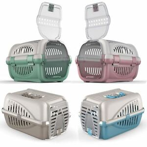 Premium Pet Carrier Kitten Cat Dog Rabbit Transport Travel Box Cage Vet Case UK