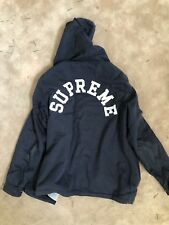 Supreme X Champion Hooded Coaches Jacket Navy 2010 Authentic Size Large Preowned